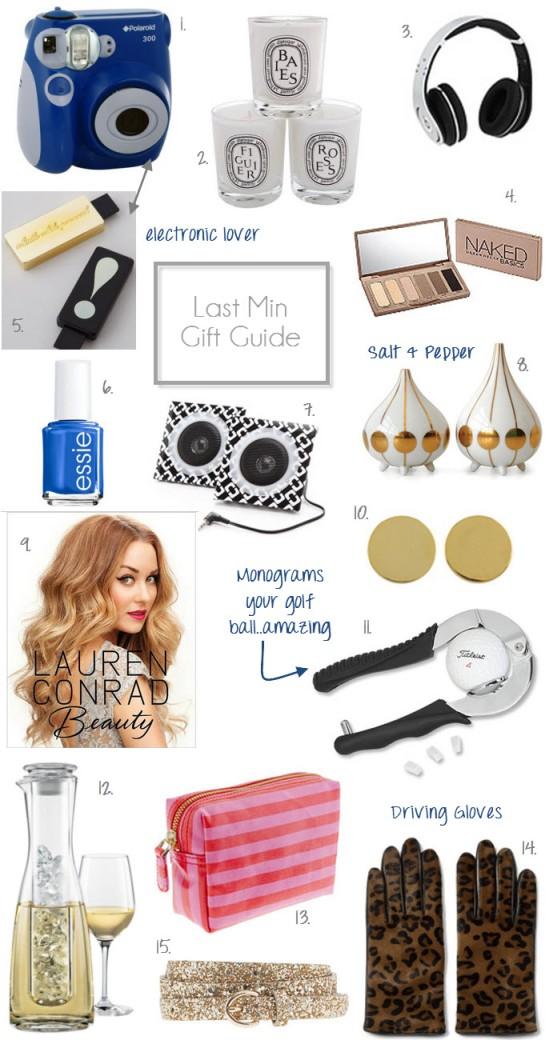 Last Min Gift Guide