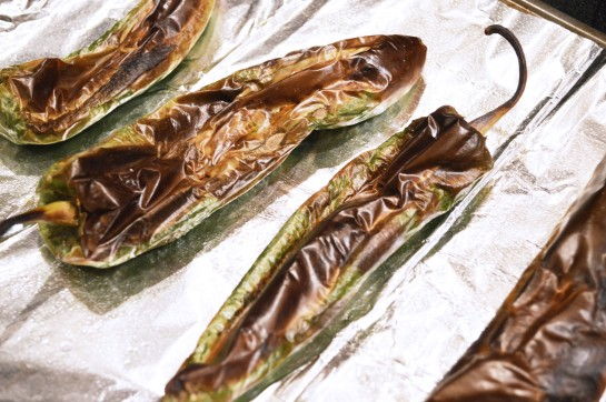 Roasted Green chilies 2