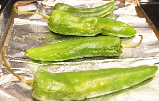 Roasted Green Chilies