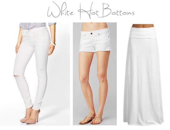 all white bottoms