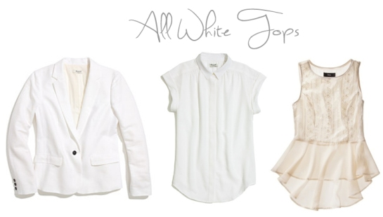 all white tops