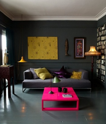 bright pink coffee table