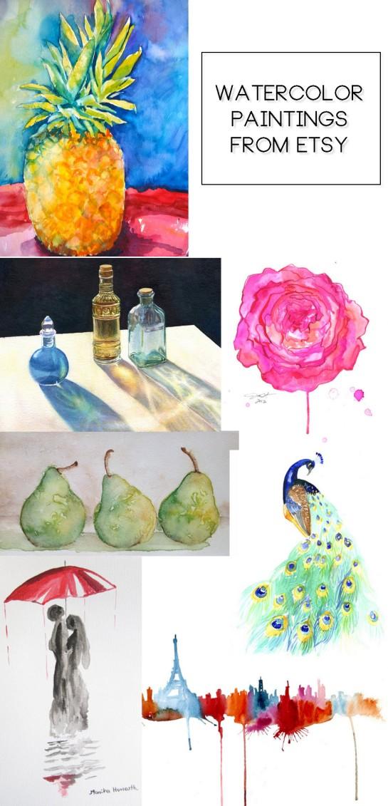 Etsy Watercolor Paintings