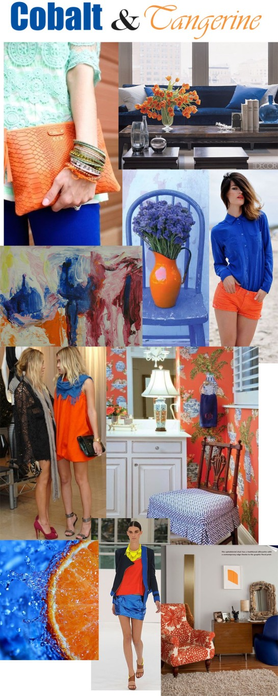 Tangerine and Cobalt