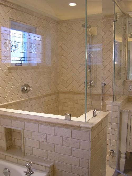 chevron showers