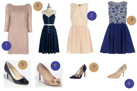 Navy and Nude Clothes