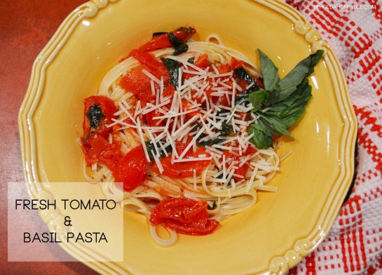 Fresh Tomato and Basil Pasta 2