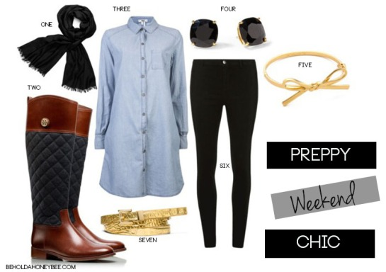preppy weekend chic