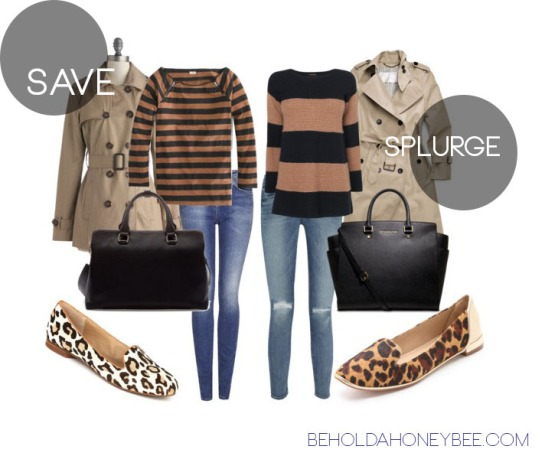 weekend wear splurge vs save