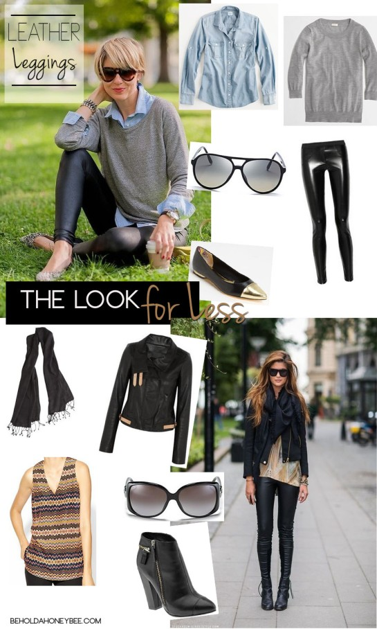 leather leggings get the look