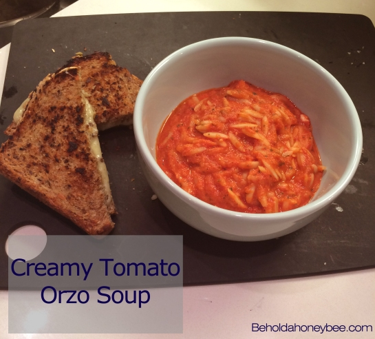 creamy tomato orzo